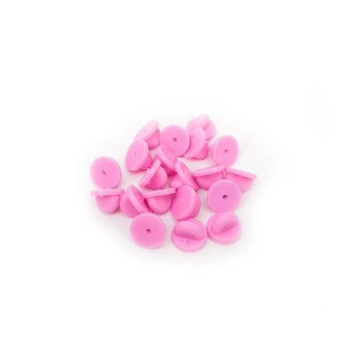 Pink Rubber Clutches (Backings Clasp) for Enamel Pin | Pack of 20