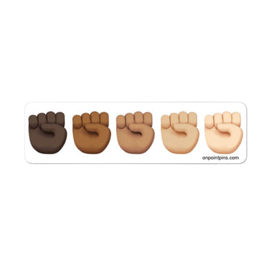 'Stand Together' Raised Fists Emoji Die Cut Vinyl Sticker | Black Lives Matter Charity Fundraiser