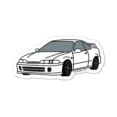 Honda Acura Integra Type R (Championship White) Car Die Cut Vinyl Sticker