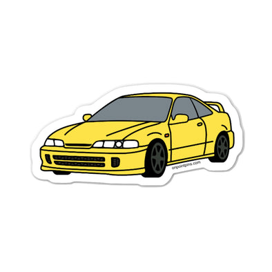 Honda Acura Integra Type R (Phoenix Yellow) Car Die Cut Vinyl Sticker