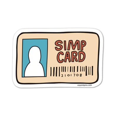 Simp Card Meme Die Cut Vinyl Sticker