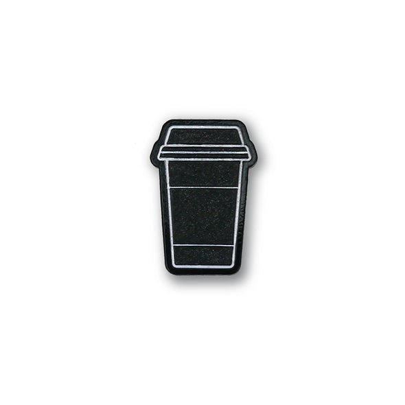 Minimalist Coffee Cup (Glow in the Dark) Lapel Enamel Pin