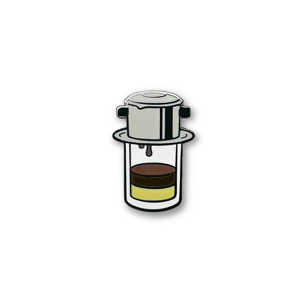 Vietnam: Vietnamese Ice Coffee (Cafe Sua Da) Lapel Enamel Pin