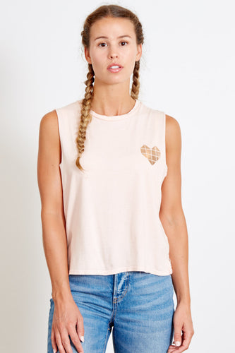 Cloud Pink Heart Tank