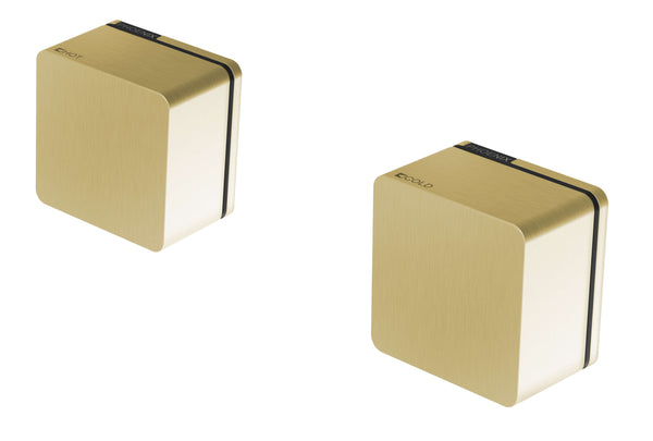Phoenix Alia Wall Top Assemblies 15mm Extended Spindles - Brushed Gold