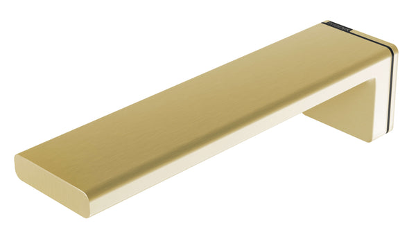 Phoenix Alia Wall Basin/Bath Outlet 200mm - Brushed Gold