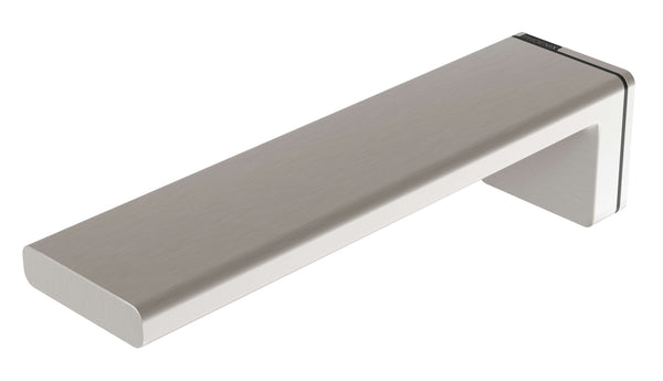Phoenix Alia Wall Basin/Bath Outlet 200mm - Brushed Nickel