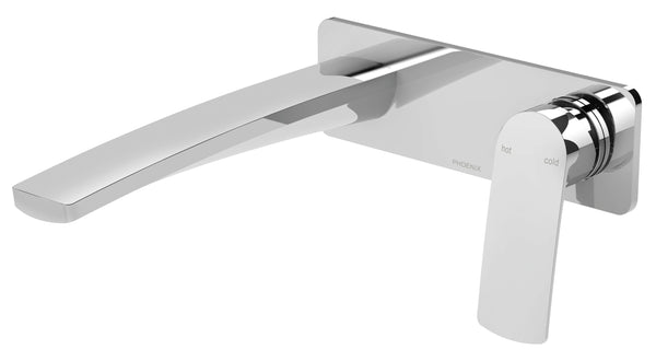 Phoenix Mekko Wall Basin/Bath Mixer Set 200mm - Chrome