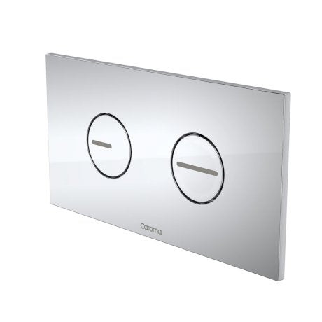 Caroma Invisi Series II® Round Dual Flush Plate & Buttons
