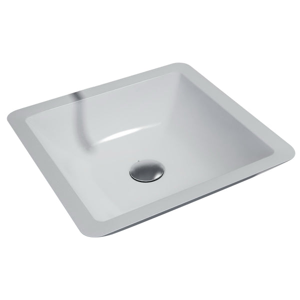 1628480 MURRAY Square Vessel Basin, No Tap Hole, White Solid Surface Basin