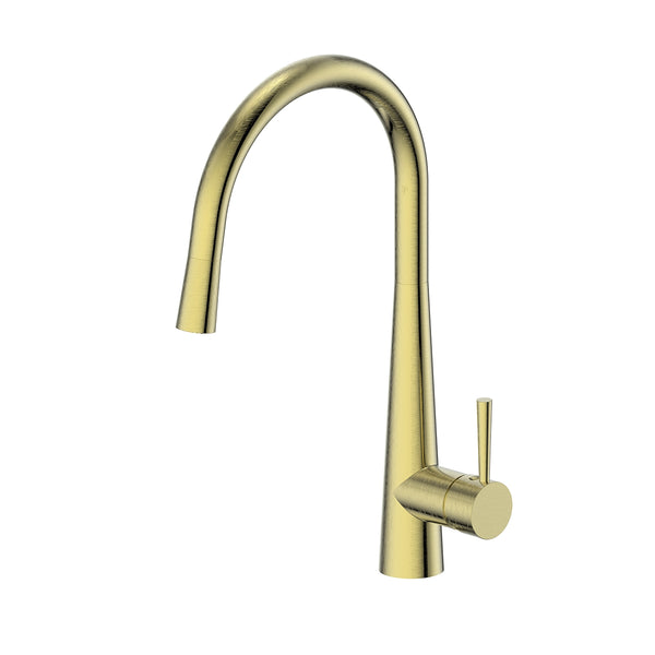 Greens Galiano Pull Down Sink Mixer - Brushed Brass
