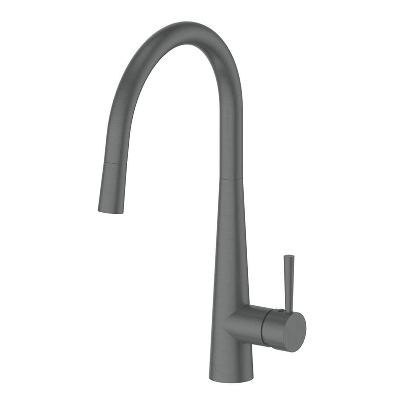 Greens Galiano Pull Down Sink Mixer - Gun Metal