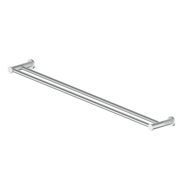 183153 Textura Double Towel Rail Brushed Stainless