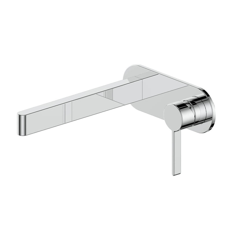 Greens Glint Wall Basin Mixer w/ Backplate - Chrome