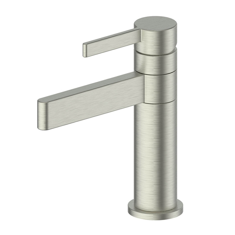 Greens Glint Basin Mixer - Swivel, Brushed Nickel