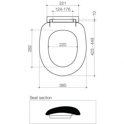 Caroma Profile Soft Close Toilet Seat