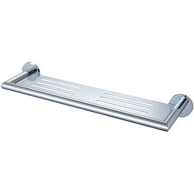 Nero Dolce Metal Shower Shelf 450mm - Chrome