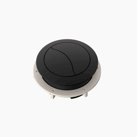 Clark Cistern Flush Buttons - Matte Black & White