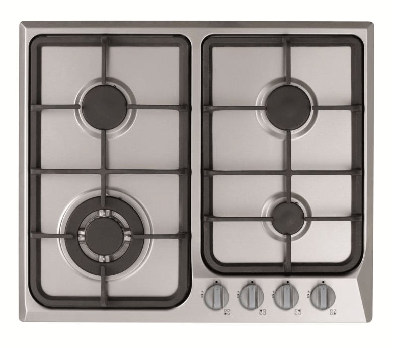 600mm Gas Cooktop with Cast Iron Trivets