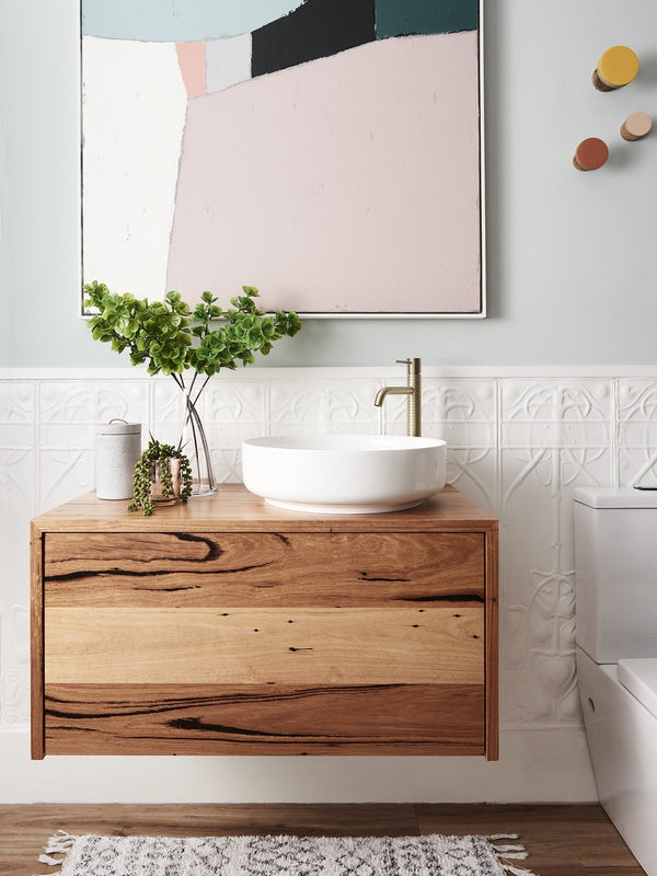 Urban Timbers Recycled Messmate Bathroom Vanity, 900mm