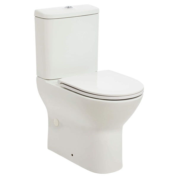 BPA Emilia Raised Height, Short Projection, Rimless Back To Wall Toilet Suite