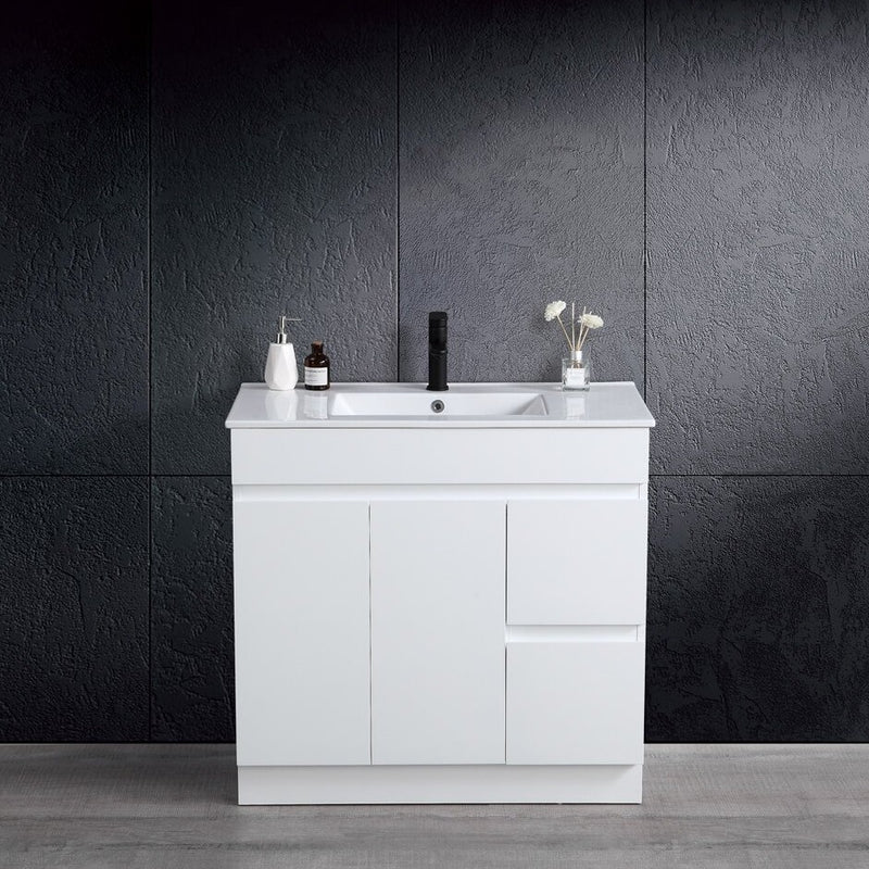 Thebe 900mm Vanity with Slim China Top Finger Pull