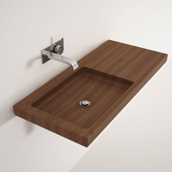 Karpenter Wall Hung Teakwood Ella Wash Basin 1000mm