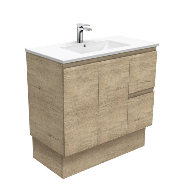 Fienza Edge Ceramic Floorstanding Vanity 900mm - Scandi Oak