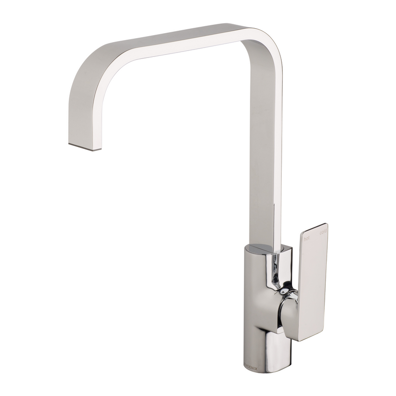 Gloss Sink Mixer 200mm Squareline