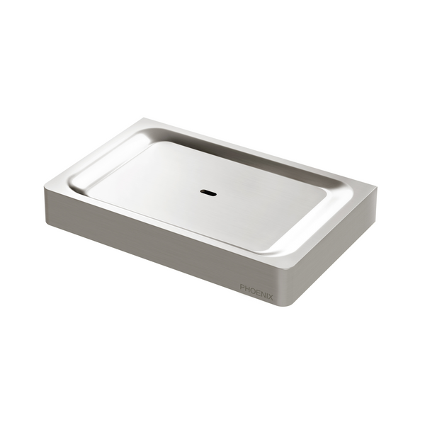Gloss Soap Dish, Brushed Nickel