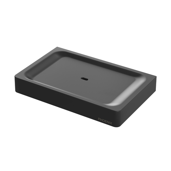 Gloss Soap Dish, Matte Black