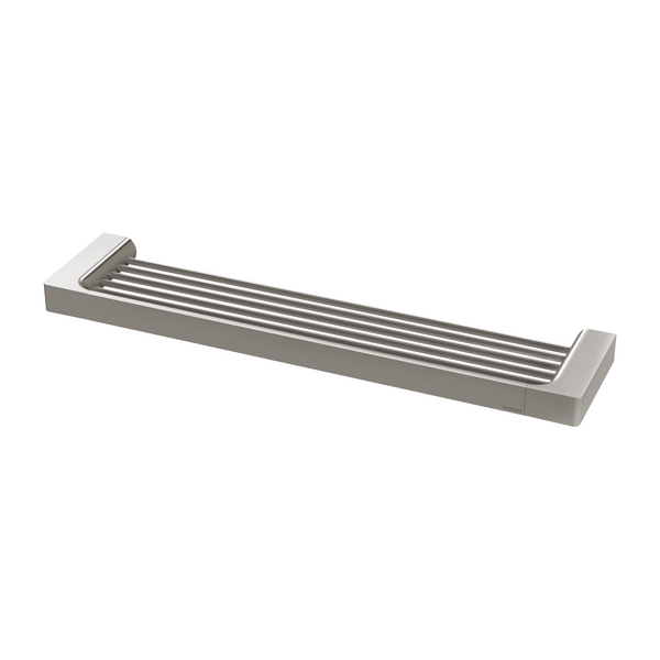 Gloss Shower Shelf, Brushed Nickel