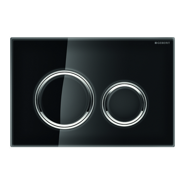 Geberit Sigma 21 Dual Flush Button & Plate - Matte Black Glass