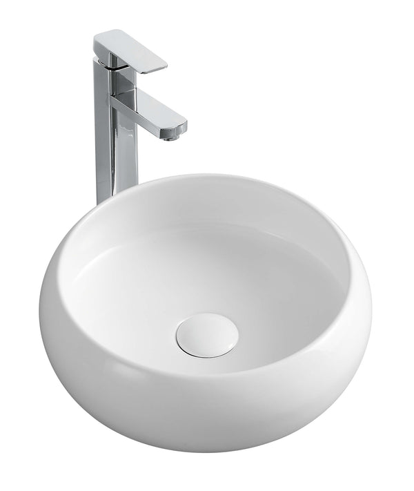 Essence Granville Above Counter Round Basin - Gloss White