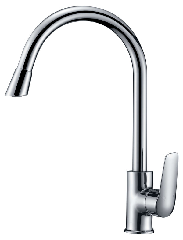 Ikon Riley Gooseneck Sink Mixer - Chrome