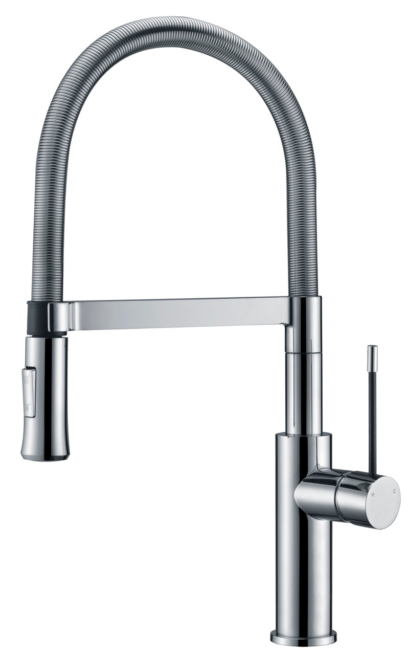 Ikon Scotia Spring Gooseneck Sink Mixer - Chrome