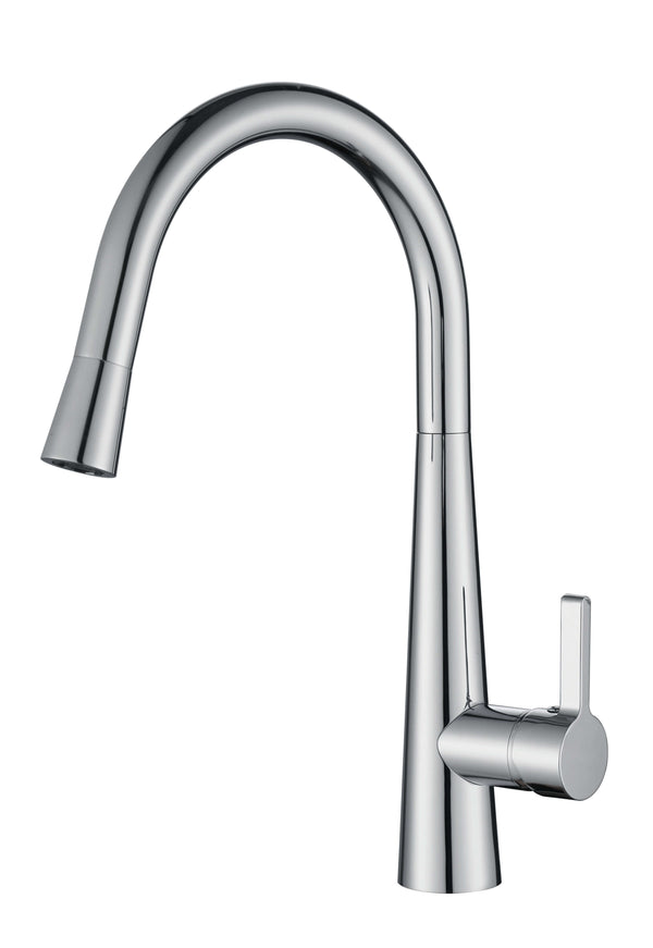 Louis Gooseneck Sink Mixer with Pull Out Spray