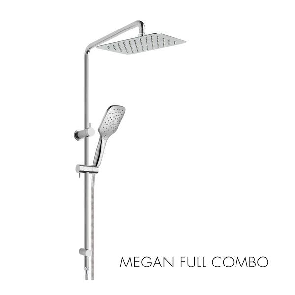 Megan Square 200mm Overhead and Handshower Combination Shower