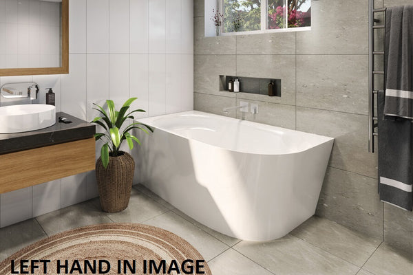 Decina Natalia Freestanding Corner Bath 1500mm, White