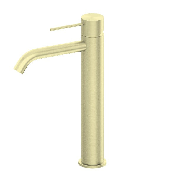 Nero Mecca Tall Basin Mixer - Brushed Gold