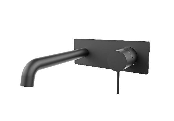 Nero Mecca Wall Mixer Set Basin/Bath - 160mm / 185mm / 230mm - Matte Black
