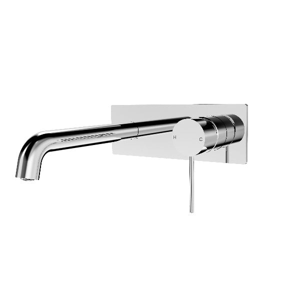 Nero Mecca Wall Mixer Set Basin/Bath - 160mm / 185mm / 230mm - Chrome