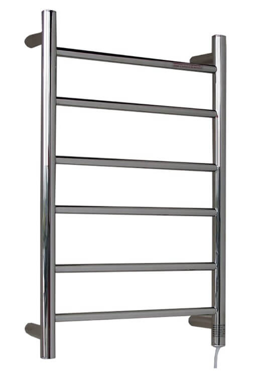 Oberon Heated Towel Rail Round 6 Rail 700x450mm