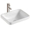 Parma Rectangular Semi Inset Basin - White