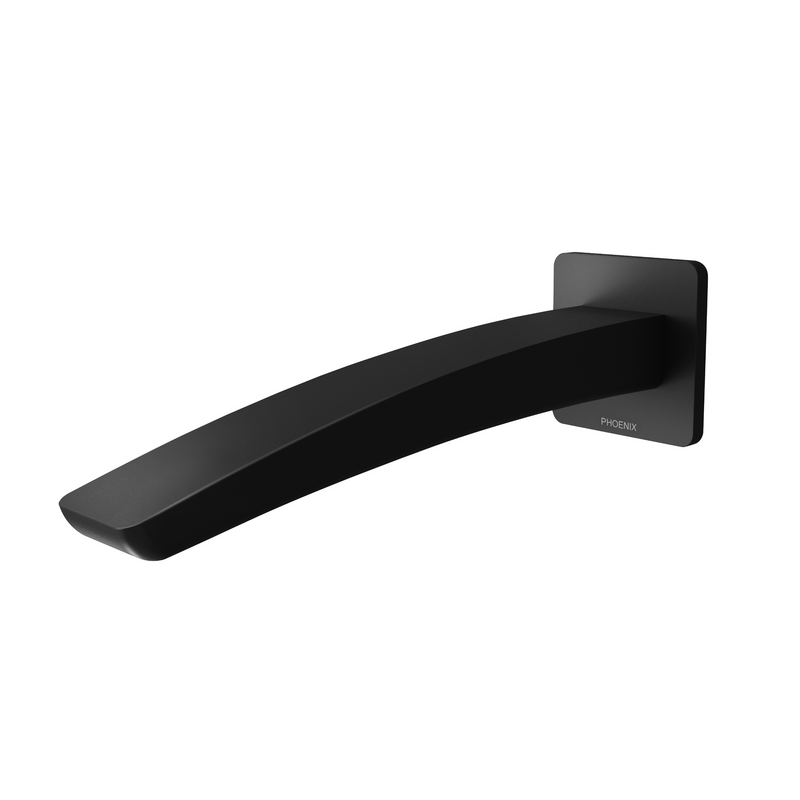 Phoenix Rush Wall Outlet (Basin), Matt Black