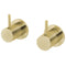 Phoenix Vivid Slimline Wall Top Assemblies 15mm Extended Spindles, Brushed Gold