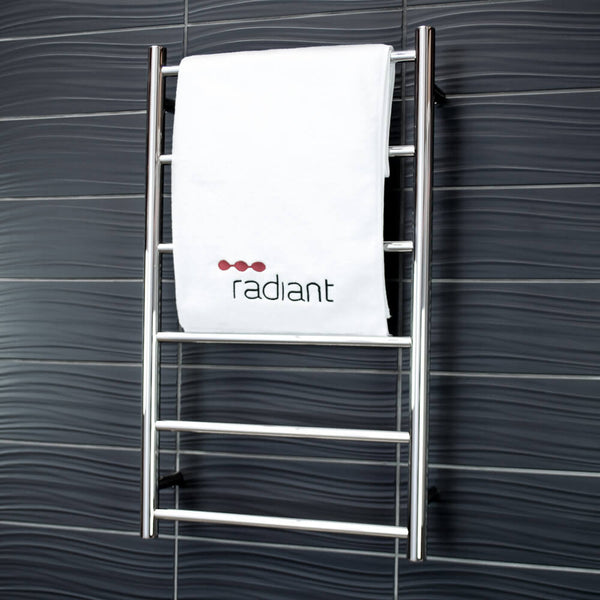 Radiant LTR01 Unheated Round Towel Ladder, Polished