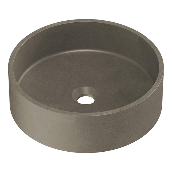 Rialto Concrete Round Above Counter Basin - 390mm, Dark Grey