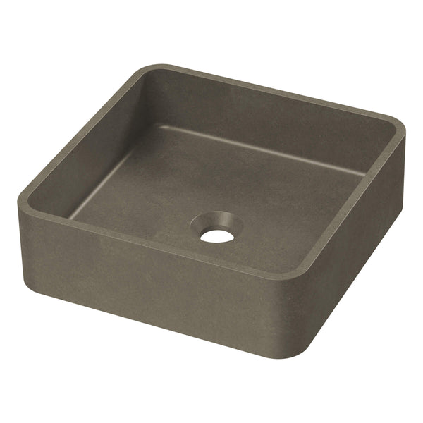 Rialto Concrete Square Above Counter Basin - 360mm x 360mm, Dark Grey