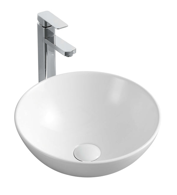 Rodez Above Counter Round Basin - Gloss White